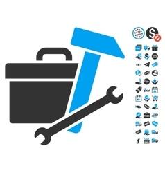 Toolbox Icon With Free Bonus vector image