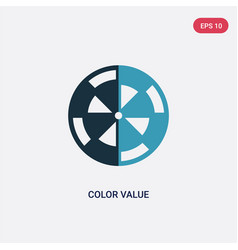 Two color color value icon from technology vector