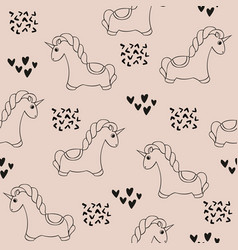 unicorn seamless pattern with unicorns cute vector image