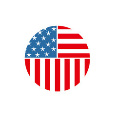 usa american circle pin icon vector image
