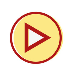 video media symbol to play film vector image
