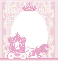 Vintage carriage invitation vector