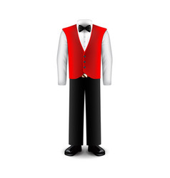 waiter uniform isolated on white vector image