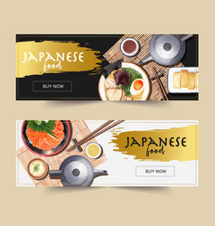 Watercolor design with creative sushi-themed vector