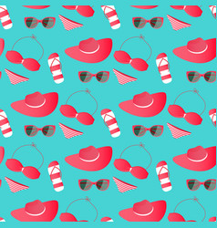 Women swimsuit glasses panama - things and vector