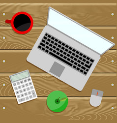 work place table top vector image