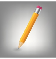 Yellow pencil icon vector image