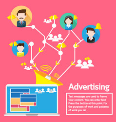 business concept design advertising social network vector image vector image