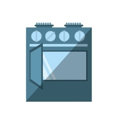 gas stove appliance kitchen home shadow vector image
