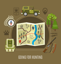 going for hunting concept vector image