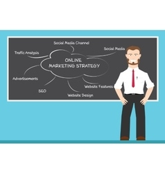 online marketing strategy concepts vector image vector image