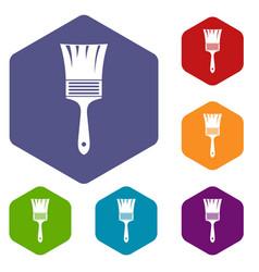 Paint brush icons set vector