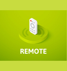 Remote isometric icon isolated on color vector