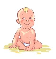 Baby cute child happy kid vector image vector image
