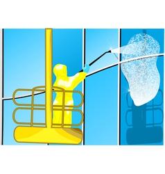 building washing vector image