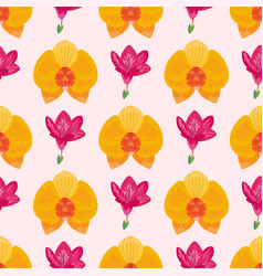 hand drawn flower seamless pattern wallpaper with vector image