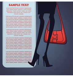 legs and bag vector image vector image