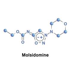molsidomine is a long acting vasodilating drug vector image vector image