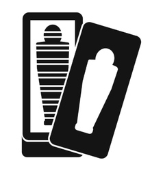 Mummy in sarcophagus icon simple style vector image vector image