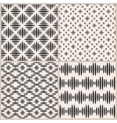 Set of four geometric seamless patterns vector image vector image