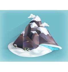 Mountain winter icon vector image vector image