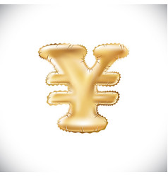 balloon symbol of yen or yuan realistic 3d vector image vector image