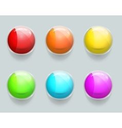 Glass banner or frames glossy web buttons vector image
