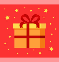 present gift box in decorative wrapping paper icon vector image vector image