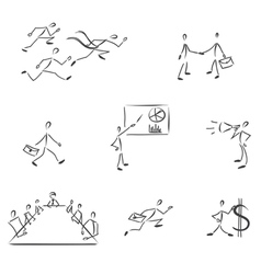 Set of symbolic business people vector