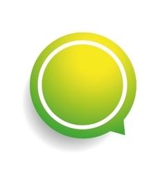 Speech bubble green vector image