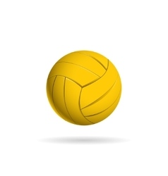 Water polo ball logo for the team and the cup vector image