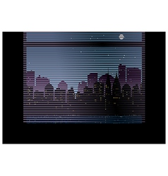 Window Blinds Cityscape View vector image vector image
