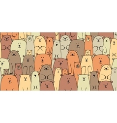 Bears family seamless pattern for your design vector