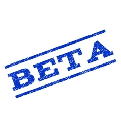 Beta Watermark Stamp vector image