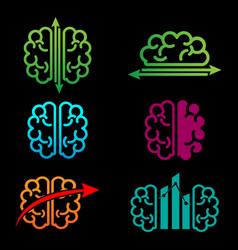 brain accounting creative logo template vector image