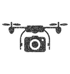 Camera Drone Grainy Texture Icon vector image