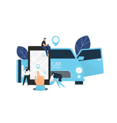 car sharing concept banner vector image