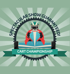 Cart championship banner in flat design vector