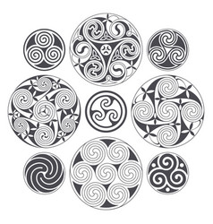 Celtic spiral design for prints tattoo and vector