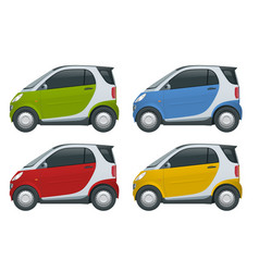 compact small car template isolated vector image