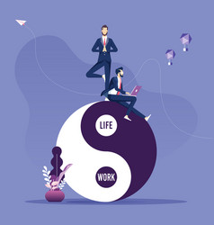 concept about balance work and life vector image