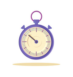 Cute template of lilac watch vector