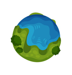 earth planet globe on a white vector image
