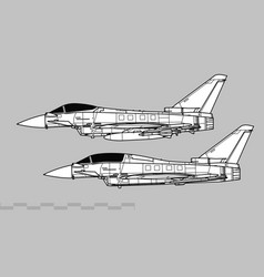 Eurofighter typhoon modern multirole fighter vector