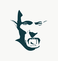 evil orc face vector image