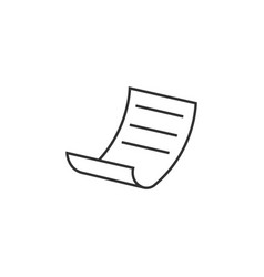 file paper line icon simple modern flat for vector image