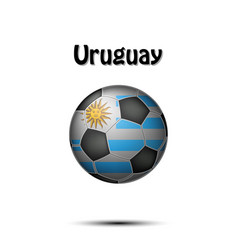 flag of uruguay as an soccer ball vector image