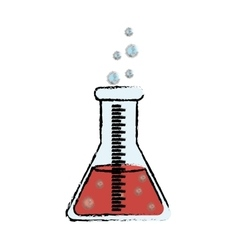 Flask chemistry lab vector image