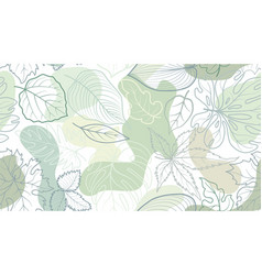 floral seamless pattern with leaves with abstract vector image
