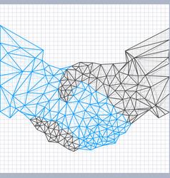 handshake sketch abstract art vector image
